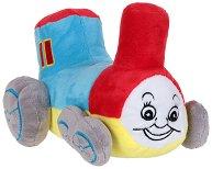 Локомотив - Бебешка плюшена играчка със звук -