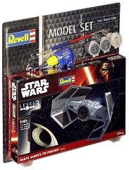 """Космическият изтребител на Дарт Вейдър - TIE Fighter - Сглобяем модел от серията """"Revell: Star Wars"""" - комплект с лепило и боички - макет"""