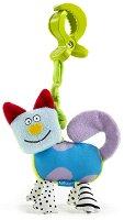 Забавно коте - Играчка с вибрация за количка или кошче - детски аксесоар