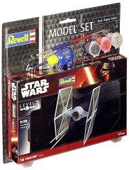 "Имперски космически изтребител - TIE Fighter - Сглобяем модел от серията ""Revell: Star Wars"" - комплект с лепило и боички -"