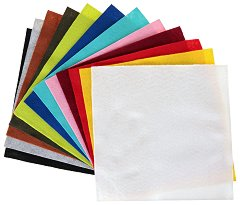 Филц - Комплект от 12 цвята - Размери 30 x 30 cm