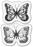 Силиконови печати - Две пеперуди - Размер 5 x 6 cm -
