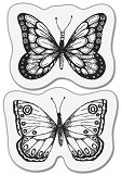 Силиконови печати - Две пеперуди - Размер 5 x 6 cm - продукт