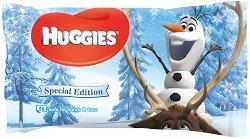 """Huggies Disney Frozen Special Edition Wipes - Опаковка от 56 броя бебешки мокри кърпички от серията """"Замръзналото кралство"""" - душ гел"""