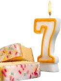 Свещичка за рожден ден - цифра 7 - Парти аксесоар - образователен комплект