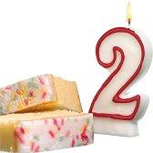 Свещичка за рожден ден - цифра 2 - Парти аксесоар - играчка