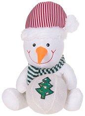 Снежен човек със снежна топка - Плюшена играчка - играчка
