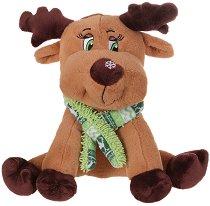 Коледно еленче с шал - Плюшена играчка - играчка