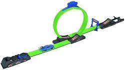 Лупинг писта с изстрелвачка - Racing Loop - В комплект с метална количка - несесер