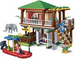 """Къща сред дивата природа - Детски конструктор от серията """" Safari"""" - играчка"""