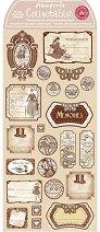 Етикети от каширан картон - Спомени - Размери 31 x 15 cm