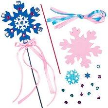 Направи самa магически пръчици - Снежинки -
