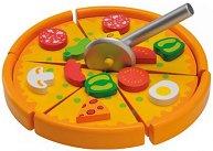 Пица - Комплект дървени фигури - детски аксесоар