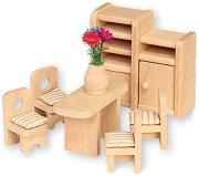 Трапезария - Дървени мебели за кукленска къща -