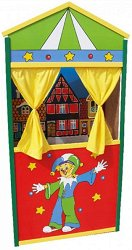 Детски куклен театър - Дървена играчка - детски аксесоар