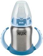 Неразливаща се термочаша от стомана с мек накрайник и дръжки - 125 ml - За бебета от 6 до 18 месеца месеца -