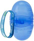 Синя кутийка за залъгалки - Double - Бебешки аксесоар - залъгалка