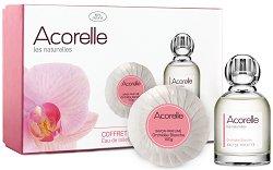 """Козметичен комплект - Acorelle White Orchid - Луксозен сапун и дамски парфюм EDT от серията """"Les Naturelles"""" -"""