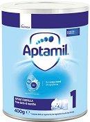 Мляко за кърмачета - Aptamil 1 Pronutra+ - Опаковка от 400 g за бебета от 0 до 6 месеца -