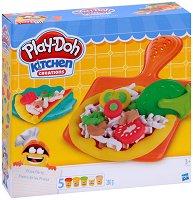 Направи пица от цветен моделин - Творчески комплект - играчка