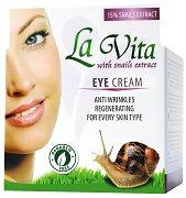 La Vita Eye Cream with Snail Extract - Хидратиращ и регенериращ околоочен крем с екстракт от охлюви - крем