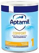 Мляко за кърмачета с леки храносмилателни смущения - Aptamil Comfort 1 Pronutra+ - Опаковка от 400 g за бебета от 0 до 6 месеца -