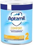 Мляко за кърмачета с леки храносмилателни смущения - Aptamil Comfort 2 Pronutra+ - Опаковка от 400 g за бебета от 6 до 12 месеца -