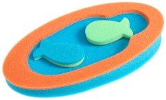 Подложка за вана - Midi - Комплект с 2 гъби за баня - купичка