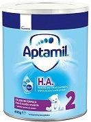Преходно хипоалергенно мляко - Aptamil HA 2 Pronutra+ - Опаковка от 400 g за бебета от 6 до 12 месеца -