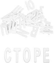 Пластмасови български букви за първи клас - Комплект от 30 броя
