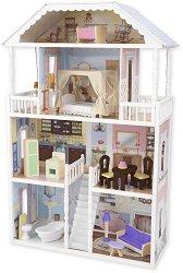 Къща за кукли - Савана - Дървена детска играчка - играчка