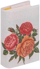Текстилна подвързия за книга: Рози -