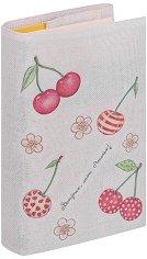 Текстилна подвързия за книга: Череши -