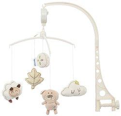 Музикална въртележка - Сладко мече - Играчка за бебешко креватче -