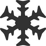 Пънч - Снежинка - Размер на щанцата S - продукт