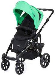 Комбинирана бебешка количка - Salsa 4: Grass Black - С 4 колела -