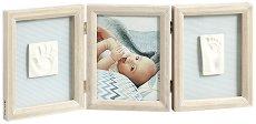 """Дървена рамка за снимка и два отпечатъка - My Baby Touch - Комплект от серия """"Wooden"""" -"""