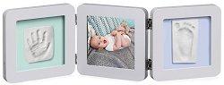 """Рамка за снимка и два отпечатъка - Baby Art: Pastel - Комплект от серия """"Modern Trendy"""" -"""