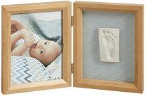 """Рамка за снимка и отпечатък - My Baby Touch - Комплект от серия """"Wooden"""" -"""