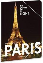 Папка с ластик - Париж - Формат A4