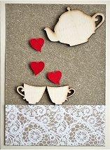 Поздравителна картичка - Време е за чай -