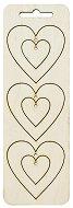 Висулки от шперплат - Сърца - Комплект от 3 броя
