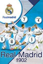Ученическа тетрадка - ФК Реал Мадрид : Формат А4 с широки редове - 40 листа - раница