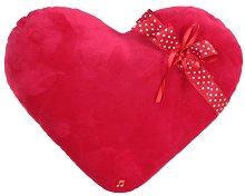 Плюшена възглавничка - Сърце с панделка -