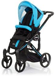 Комбинирана бебешка количка - Mamba Plus: Rio - С 4 колела -