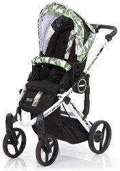 Комбинирана бебешка количка - Mamba Plus: Wasabi - С 4 колела -