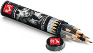 Графитни моливи - Grafwood - Комплект от 15 броя в метална кутия -