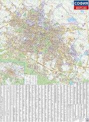 Стенна карта на София - М 1:20 000 -