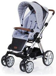 Бебешка количка 2 в 1 - Turbo 6: Style Graphite Grey - С 4 колела -