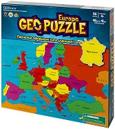 """Карта на Европа - Пъзел с части в нестандартна форма от серията """"Geo puzzle"""" - пъзел"""